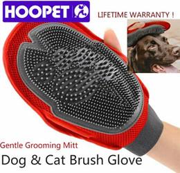 Wholesale Dog Bubbles - HOOPET Cat Pet Dog Fur Grooming Glove Mitt Brush Comb Massage Bath Big Large Dog Wash Tool Bubble Maker Grooming Supplies Top Quality