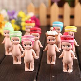 Wholesale mini kids mobile phone - 12 Pcs Kewpie Doll Garage Kit Lovely Macaroon Mini Figure Toys Fun Cake Ornament For Kids Collection 65gb WW