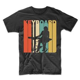 teclado de estilo livre Desconto Vintage Retro 1970's Estilo Teclado Músico T-Shirt de Manga Curta tshirt nova moda top frete grátis 2018 camisas
