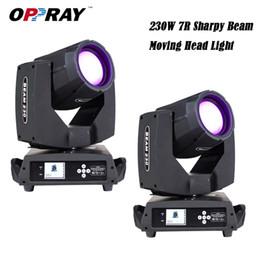 rueda de gobo Rebajas Good Price Lot Beam 230W YOND 7R haz de cabeza móvil prisma de doule 7R haz de luz sharpy pro iluminación de escenario 16 canales DMX iluminación de barra