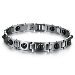 Price power bracelets online-Braccialetti in acciaio inossidabile con magnete Pietra Sana terapia Potenza Braccialetto magneticoBangle Fashion Jewellery Prezzo all'ingrosso DLQ