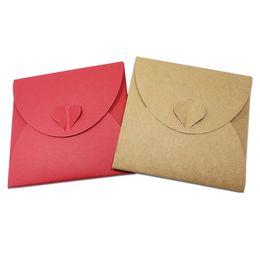 Wholesale Dvd Envelopes - 13*13cm Kraft Paper DVD Sleeve CD Packaging Box Cases CD DVD Packing Cover Holder Boxes Envelopes For Party Wedding Baby Shower