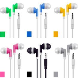 2019 caramelo pc Caramelo colorido auricular 3.5 mm auriculares universales auriculares auriculares para iphone 5 6 samsung htc teléfono android mp3 pc tablet caramelo pc baratos