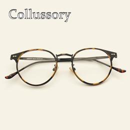 2019 goldene brücke sonnenbrille Weinlese-runde Aufmaß Brillenfassungen für Frauen Männer Retro Optische Brillen Brillenmarken-Entwerfer-Brillen