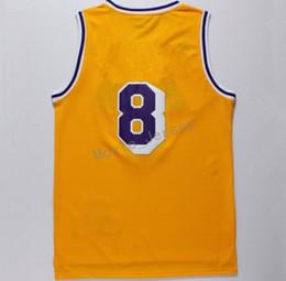 Wholesale Uniform High School - 24 Jersey 8 Throwback High School Lower Merion 33 Retro Shirt Uniform Yellow Purple White Black Blue Red