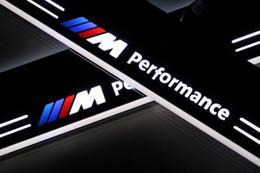 Lill bmw on-line-2X personalizado LED correndo acessórios decorativos do carro porta peitoril scuff placa de boas-vindas pedal luz para BMW E46 de 1998-2005