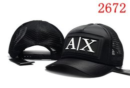 Wholesale Mesh Snapbacks - Top Selling The Letter AX basebaLL Caps snapbacks a x outdoor hats Adult Mesh Caps Blank Trucker Hats Top quality brand hats shipping