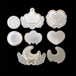 Moldes de corona online-DIY Corona Corazón caja de Almacenamiento Scrapbooking Molde de Silicona DIY Resina Joyería Artesanal Decorativa Fabricación de moldes de resina epoxi