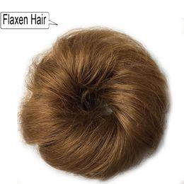 2019 großhandel synthetischen haar brötchen zubehör Menschenhaar lockiges Chignon Bun Haarteil für Frauen gefälschte Haarverlängerungen elastische Haarbänder Krawatten Haarschmuck