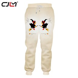 clothing new witch Promo Codes - CJLM Men's Clothing New Arrivals Halloween Sweatpants 3D Broom Witch Pants Printed Chinese Style Trousers Big Size 5XL