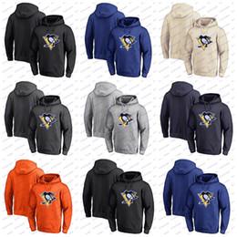 Pingüino sudaderas online-Sudadera con capucha personalizada de los Pittsburgh Penguins Sudadera con capucha Cualquier número de nombre Hockey cosido en blanco sudadera con capucha