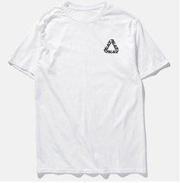 Skateboard shorts männer online-Mens-Frauen-Skateboard-T-Shirts Sommer Kurzarm-T-Shirts mit Rundhalsausschnitt High Street PALA Brief Dreieck-Druck-T-Shirt Liebhaber Tees Top