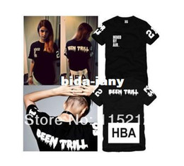 Wholesale wholesale hood t shirts - Wholesale-Free Shipping Hood By Air HBA X Been Trill Kanye West Short-sleeved t-shirt Men's   women's HBA fashion lovers t-shirts