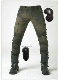 uglyBROS motorpool ejército verde pantalones rectos sueltos protección de la motocicleta pantalones de montar caballero diario montar pantalones casuales pantalones de motocicleta desde fabricantes