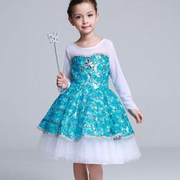 kinder mädchen schule kleider Rabatt 2018 Mode Sommer Prinzessin Middle School Girl Langarm Prinzessin Peng Peng Kleider Net Garn Kleider Blau Kostüm Für Kinder