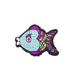 2019 fischflecken 10 STÜCKE Diy Big Head Fisch Kleber Stickerei Kleidung Patches für Jeans Bekleidung Nähen Dekoration Applique Patches für Bekleidungszubehör Patch günstig fischflecken