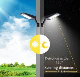 Солнечный свет водить открытый 48 светодиодные настенные лампы PIR датчик движения 4 режима аварийного освещения с регулируемым полюсом для сада наружного освещения 6000K от Поставщики фонарные столбы