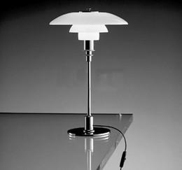 2019 lámpara de estudio clásica Lámpara de mesa de cristal blanco moderno clásico mesa luz Art Deco estudio mesa iluminación E27 Art Hotel Home Lighting B018