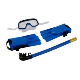 mascara de entrenamiento para Rebajas 1pc Snorkel Máscara de Buceo Tubo de Respiración Aletas Largas Aletas de Pie 3 Unids Snorkels Set Piscina Equipo de Entrenamiento Venta caliente