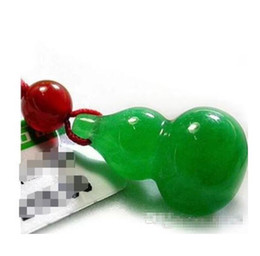 Wholesale Lucky Jade - Wholesale - A cargo Malay jade gourd male and female pendants Lucky liver gourd necklaces safe Christmas deluxe pendants