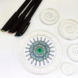 Fiori disegnati online-Forniture per pittura per belle arti Bambini Set righello curvilineo in plastica Fiori vari Modello di disegno di grandi dimensioni Righelli 10 8bx W