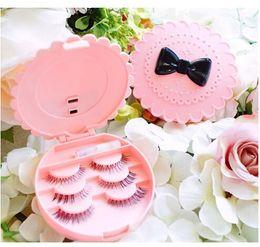 Wholesale Plastic Tool Box Storage - Wholesale Eyebrow Tools Acrylic Bow False Make Up Cosmetic Eyelashes Storage Case Makeup Plastic Box Home Tools