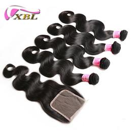 xblhair ombre İnsan saç demetleri ile kapatma bakire insan saçı uzantıları tüm saç dokusu satış içinde cheap ombre hair extensions for sale nereden satılık ombre hair extensions tedarikçiler