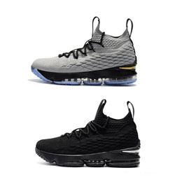 Wholesale motion basketball - WNE Selling 15 generation of Zhan Wne Basketball Shoes Men Retro AIR motion Running shoes 2018 Mid Cut Mesh 40-46