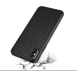 2019 жесткий пластиковый чехол для сотового телефона Углеродного волокна ТПУ Силиконовая кожа Мягкая полная задняя крышка для iphone X XR XS MAX 7 8 PLUS