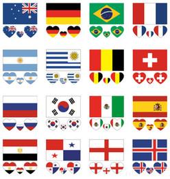 adesivi da hockey Sconti Tatuaggi Adesivi Bandiera del paese per gli appassionati della Coppa del Mondo di calcio Tatuaggi removibili Adesivi per tatuaggi resistenti e duraturi LJJN5
