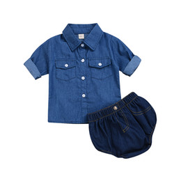 2fd98ce7b8f newborn baby girl jeans Promo Codes - Newborn Infant Baby Girl Denim Outfit  Clothes Tops T