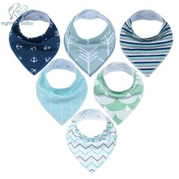 Wholesale Gold Shower Set - New Style Baby Bandana Drool Bibs Unisex 6 Pack Cotton Super Absorbent for Drooling and Teething Perfect Baby Shower Gift Set