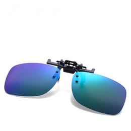 Rechteckige rahmenlose sonnenbrille online-NEUE Mode Männer Frameless Rechteck Objektiv Sonnenbrille Clips Polarisierende Sonnenbrille Brille Anti-UV Brille für Fahren Gläser
