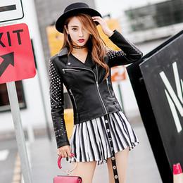 Le giacche coprono il vestito coreano online-2018 nuove riverniciate locomotive Pu cappotto femminile cappotto corto coreano versione coreana del vestito di moda giacca di pelle