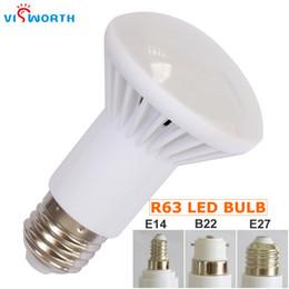 Wholesale E27 R63 - R63 Led Lamp 5W 7W 9W SMD2835 18PCS Leds Bulb E27 E14 B22 Base Ac 110V 220V 240V Led Light Warm Cold White Table Lamp