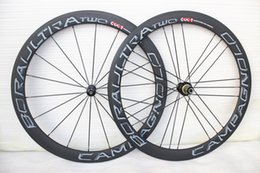 Wholesale Road Bike Decals - Full Carbon Wheelset 50mm clincher grey decal CAMPAGNOLO BORA ULTRA TWO Clincher carbon bicycle wheels glossy , 50MM bora two Wheel set A01