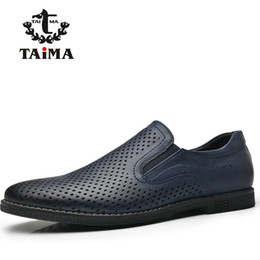 Wholesale New Fabric Collections - TAIMA New season Design Color Navy Black Collection Men Loafers Comfortable Men Flats Shoes #995502
