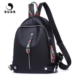 backpacks color gold for women Coupons - SUDS Brand Women Large Capacity Oxford Backpack High Quality School Bags For Teenagers Color Ribbons Zipper Head Travel Backpack