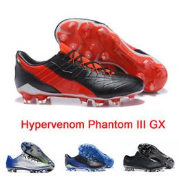 2018 Hommes Hypervenom Phantom III GX Chaussures De Football Cleats Basses BHM Mercurial Vapor XI Mercurial Vapor XI FG Designer Sneakers sale amazon POqn5Rc
