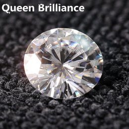 Canada Diamant équivalent Poids 1 carat 6,5 mm Couleur DEF Ronde Brilliance Test de Moissanite Positive Lab Diamant VVS1 Excellente coupe supplier excellent cut Offre