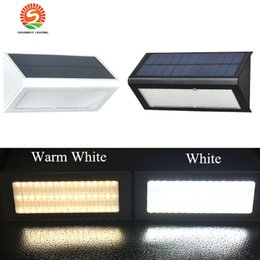 Wholesale Microwave Sensors - Microwave Radar Motion Sensor Solar Light 48 LED Super Bright 1000lm 4 Modes Outdoor Garden Wall Lamp