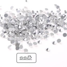 hotfix rhinestone-kleidungsentwurf Rabatt SS8 1440 Stück Clear Hotfix Strasssteine Kristallsteine Für Kleidung Strasssteine Flatback Hotfix Steine Design Brautkleid Kristallsteine