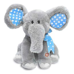 Wholesale Pink Animated - Hot selling Elephant Plush Toy Electronic Flappy Play interactive toys Electronic pet Animated Singing baby Plush Toy brinquedos