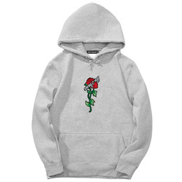 75d981bb8 Hot Sale 2018 Brand Autumn Spring Hip Hop Pullover Sweatshirts Men High  Quality Hoodie Fashion Rose printing mens hoodies Tops