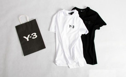 tshirt de rihanna 3d Desconto Top quality KANYE WEST caixa Laranja reuniram-manga Curta Y 3 T-Shirt Dos Homens tops tee T Shirt