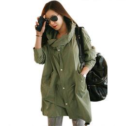 Cráneo chaqueta verde online-Floral cráneo bordado capa delgada básica de las mujeres chaqueta con capucha verde cintura delgada chaqueta femenina punk botón de marca Outwear 3164