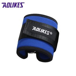Wholesale Gold D Ring - 1 Pcs D-ring Adjustable Ankle Guard Strap Thigh Leg Pulley Gmy Weight Lifting Legs Strength Recovery Training Protection New