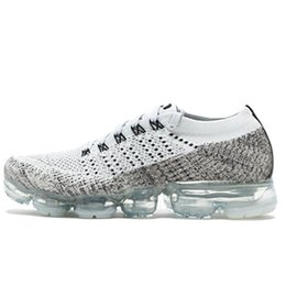Wholesale black plastic canvas - High quality VaporMax Mens Athletes Running Shoes Trainer Sneakers Men Women Vapormax Jogging Shoes Breathable Socks shoes Trainers Training