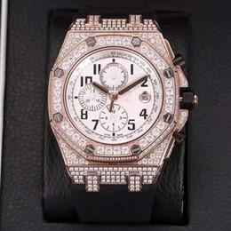 Импортировать алмазы онлайн-2018 ТОП роскошных мужских кварцевых часов Лучшие импортные кварцевые машины времени Diamond Мужские часы черный резиновый ремешок сапфировые мужские часы