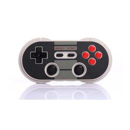 contrôleur double joystick Promotion 8Bitdo NES30 Pro Sans Fil Gamepad Bluetooth / USB Connecter Contrôleur Double Joystick Classique pour iOS Android PC Mac Linux OTH845